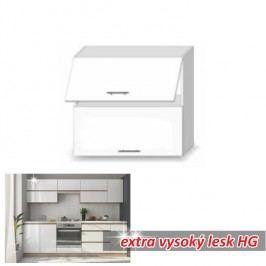 horní skříňka ENILE bílý vysoký lesk 80 cm