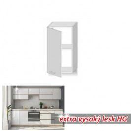 horní skříňka ENILE bílý vysoký lesk 30 cm