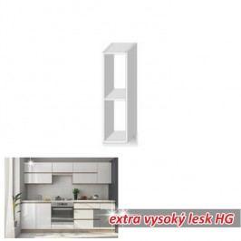 horní skříňka otevřená ENILE bílý vysoký lesk 20 cm