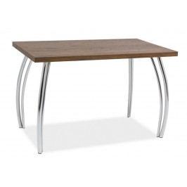 Jídelní stůl 120x68 cm v moderní ořechové barvě KN525