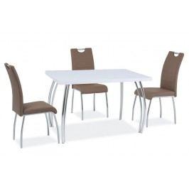 Jídelní stůl 120x68 cm v bílém lesku KN525