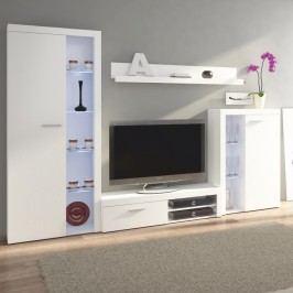 Obývací stěna v trendy moderním provedení bílá ROCHESTER Obývací stěna