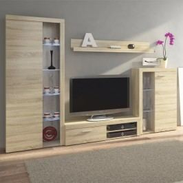 Obývací stěna v trendy moderním dekoru dub sonoma ROCHESTER