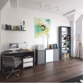 Regál ve stylovém moderním designu šedá MARSIE
