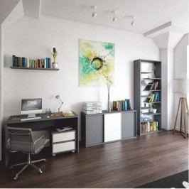 Psací stůl ve stylovém moderním designu šedá MARSIE