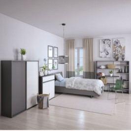Věšáková šatní skříň ve stylovém moderním designu šedá MARSIE