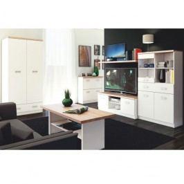 Konferenční stolek 115, DTD laminovaná, bílá / dub sonoma, TOPTY