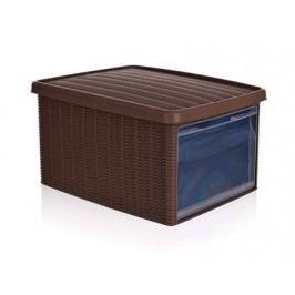 Multifunkční ratan box 15L tmavě hnědý
