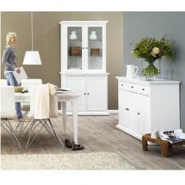 Velká čtyřdvéřová skříň v provensálském stylu bílé barvy TK175