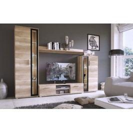 Moderní obývací stěna v barvě dub šedý KN353