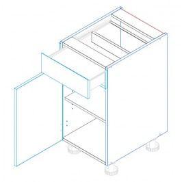 Skříňka dolní se zásuvkou ALINA D40 S/1 levá