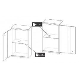 Obývací stěna v elegantním designu černé a bílé KN120