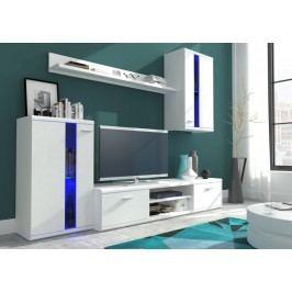 Obývací stěna v elegantním designu bílé barvy KN120