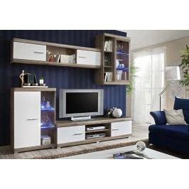 Moderní obývací stěna v barvě dub san remo typ III KN130