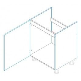 Skříňka dolní dřezová JUSTÝNA lak D60 ZL1 levá