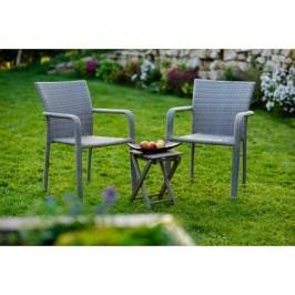 Zahradní set v elegantním šedém provedení BARCELONA