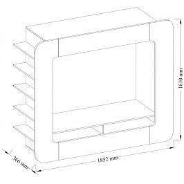 Obývací stěna v nadčasovém designu bílý lesk KN355