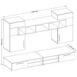 Moderní a elegantní obývací stěna v barvě dub sonoma KN328