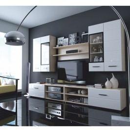 Obývací stěna, dub sonoma + bílý extra HG, Mirage typ 2