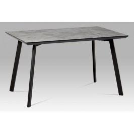 Jídelní stůl 130x80 cm imitace betonu a černý kov MDT-620 GREY3 AKCE