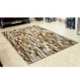 Luxusní koberec, kůže, typ patchworku, 201x300 cm, KOBEREC KOŽA typ5