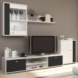 Obývací stěna v krásné černobílé klasice s moderním nádechem TK129
