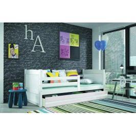 Dětská postel s úložným prostorem v bílé barvě 90x200 F1133