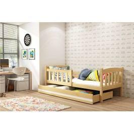 Dětská postel v dekoru borovice 80x160 F1176