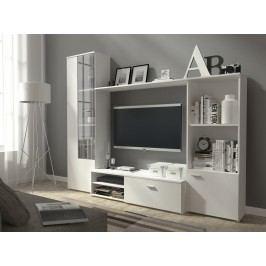 Obývací stěna v elegantní bílé barvě KN339