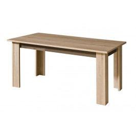 Rozkládací jídelní stůl v dekoru dub sonoma s bílým leskem typ C11 KN549