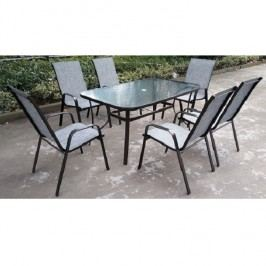 Jídelní stůl 150x90cm z tvrzeného skla a oceli TK2095