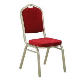 TEMPO KONDELA Konferenční židle stohovatelná v látce bordó TK2021
