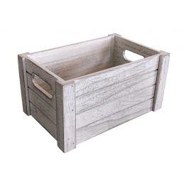 Asko Dřevěná bedýnka 31x21 cm WHITE WASH