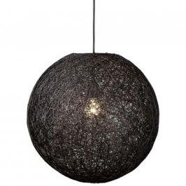 Moebel Living Černé závěsné kulaté světlo Moon 35 cm