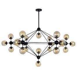 Culty Gold Transparentní kouřové závěsné světlo Ball 21