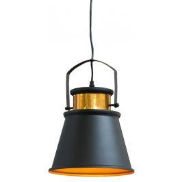Moebel Living Černozlaté závěsné světlo Stellario II