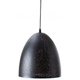 Moebel Living Černé závěsné světlo Star 30 cm