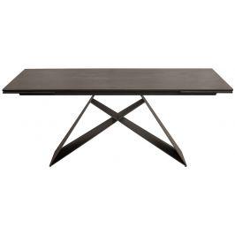 Moebel Living Šedý rozkládací jídelní stůl Sinon 180-260x100 cm