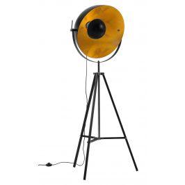 Černá kovová stojací lampa LaForma Parker 166 cm