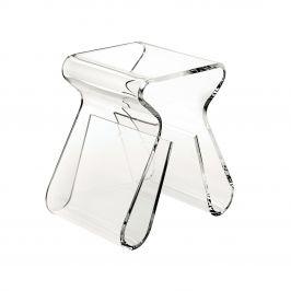 Culty Gold Transparentní plastový odkládací stolek Maggie 42 x 29 cm