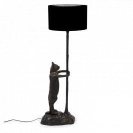 Černá stojací lampa Bold Monkey No Girlfriend No Problem 108 cm