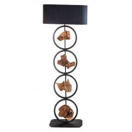 Moebel Living Černá stojací lampa Indimo 147 cm