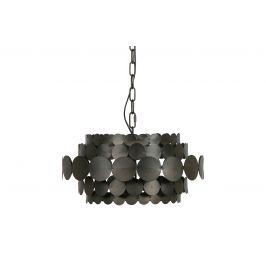 Hoorns Černé kovové závěsné světlo Dots 46 cm