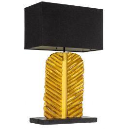Moebel Living Černá stolní lampa Listot