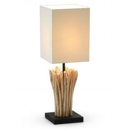 Bílá dřevěná stolní lampa LaForma Poob