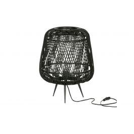 Hoorns Černá bambusová stolní lampa Bamboo 48 cm