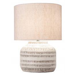 Moebel Living Béžová látková stolní lampa Romero