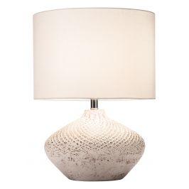 Moebel Living Béžová látková stolní lampa romero II