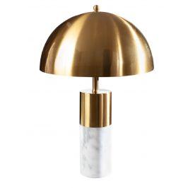 Moebel Living Zlatá kovová stolní lampa Adore