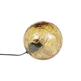 Jantarová skleněná stolní lampa DUTCHBONE LUNE 25 cm